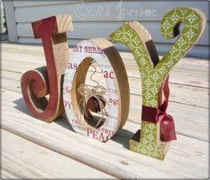 x-mas letters joy.