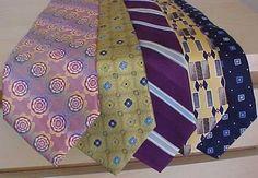 DeSantis, Joseph Bank Silk Tie Lot of 5 #DesantisDeSantis #Tie Christmas Shopping Online, Silk Ties, Floral Tie, Joseph