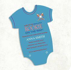 Boys Baseball Baby Shower Invitation  digital by FrillyJillyDesign
