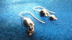 Black Onyx and sterling silver earrings by PatsapearlsBoutique, $19.99