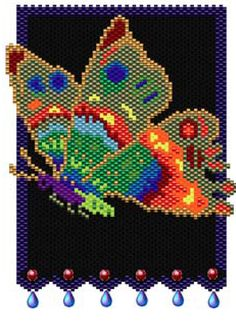 The Magic Butterfly Pattern by Sigrid Wynne-Evans at Bead-Patterns.com