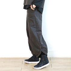 6305 文艺范宽松灯笼裤【3色】
