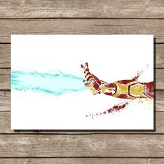 Hey, I found this really awesome Etsy listing at https://www.etsy.com/listing/175350536/movie-poster-art-print-ironman-comic