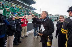 2013 GREY CUP | Tom Hanks and Martin Short arrive at Mosaic Stadium before CFL Grey Cup 2013 action in Regina on Sunday November 24, 2013.