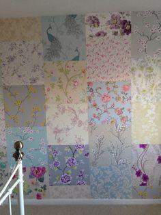 Patch work wallpaper