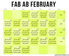 Ab month. Love this and do it about every other month makes a huge difference to my running