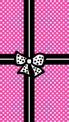 This could be printed as a full page or a gift tag. Pink white black with a bow and dots. Lock Screen Wallpaper, Mobile Wallpaper, Wallpaper Backgrounds, Iphone Wallpaper, Flowery Wallpaper, Chevron Wallpaper, Tags Png, Holiday Wallpaper, Pink Walls