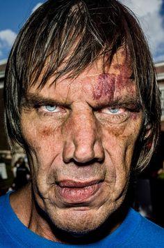 Bruce Gilden's ruthlessly unforgiving portraits are mesmerising.