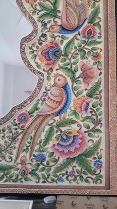 Lotus Painting, Mural Painting, Watercolor Paintings, 3d Wall Art, Marble Art, Indian Paintings, Indian Art, Folk Art, Arts And Crafts