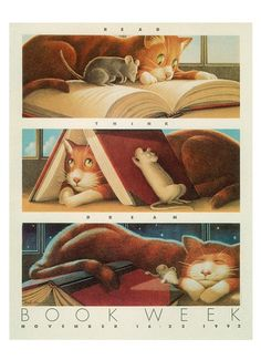 Official Children's Book Week poster, 1992, Fred Marcellino, (1939-2001)