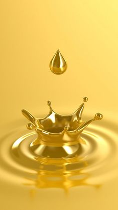 Gold Water Drop - Tap to see more really cool gold designed wallpaper - mobile9