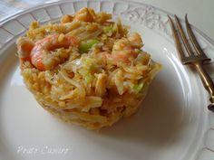 Prato Caseiro: Bacalhau à Brás com alho francês e camarão
