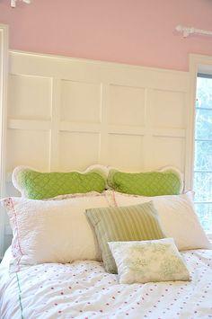 Paneled Wall idea for master bedroom wall