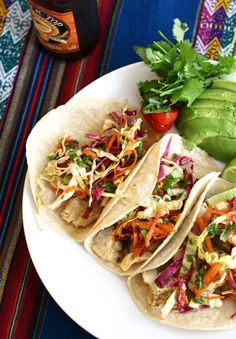 Looks yummy!!                                 Recipe: Fish Tacos with Cilantro Lime Slaw