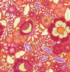 Fabric Taza 'Caroline' Red by Dena Designs by SouthernSeamsFabrics, $6.50
