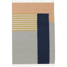 Kelim Rug - White Lines Designer: ferm LIVING Manufactured by: ferm LIVING Dimensions (in): see Options below Kelim rug with a significant graphic touch and col Tapis Design, Textiles, Large Area Rugs, Striped Rug, Contemporary Area Rugs, Modern Rugs, Design Studios, Grey Carpet, White Rug