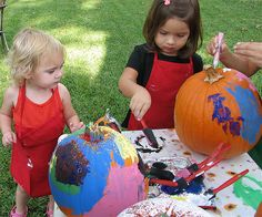 Have the kids paint their own pumpkins.