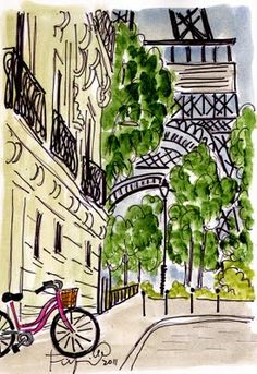 Illustrated Paris. my daughter WILL have a paris themed room