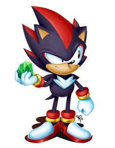 Hey, finally a cool classic Shadow design! Sonic The Hedgehog, Silver The Hedgehog, Shadow The Hedgehog, Kids Cartoon Characters, Sonic Fan Characters, Cartoon Games, Sonic Videos, Shadow And Maria, Lego Dragon