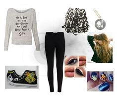 """Harry Potter"" by shyoxic on Polyvore featuring Converse and Lulu DK"
