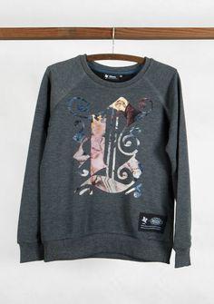 Bluza z Freskiem - KlawoStudio - Bluzy