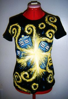 LADIES Doctor Who Exploding TARDIS TShirt by DelicatelyHazy