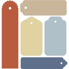 Silhouette Design Store: 5 piece gift tag set