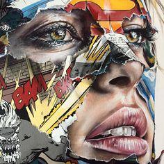 Sandra Chevrier - Super Woman Identity Artists, Kunst Portfolio, Sandra Chevrier, Contrast Art, Collage Portrait, Portraits, A Level Art Sketchbook, Art Alevel, Newspaper Art