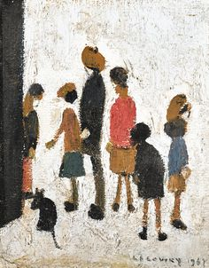 lowry, laurence stephen, r. English Artists, People Art, Impressionist, Beautiful World, Modern Art, Illustration Art, My Arts, Pottery, Graphic Design