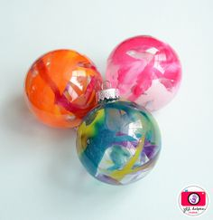 Melted Crayon Ornaments - @DebbyDiaz @lisafall23  We should make these!