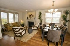 Furniture Arrangement In A Living Room Dining Room Combination