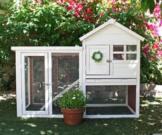 A new home for outdoor animals Painted and decorated: http://www.amazon.com/Advantek-Stilt-House-Rabbit-Hutch/dp/B0087BI9KW?ie=UTF8
