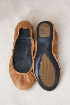 Wheat  Handmade Leather ballet flat shoes   by TheDrifterLeather