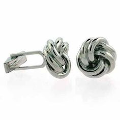 Sterling Silver Designer Inspired Knot Cufflinks, Women's