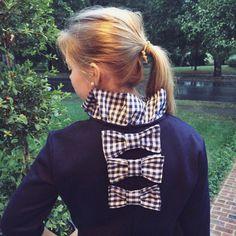 Jacqueline Sweatshirt in Navy Gingham by SeersuckerRuffles on Etsy
