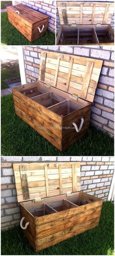 Wood pallet garden tools storage chest is one of the best and handy creative creation for storage purpose. It has three cabinets inside which helps you to set all the stuff in disciplined manner. Do craft this excellent project for your ease. It is reasonable and wonderful idea.