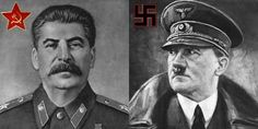 Josef Stalin (Communist leader) and Adolf Hitler (Nazi leader)