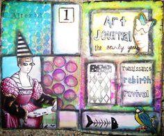 art journaling - the early years by nayski (Renee Stien), via Flickr