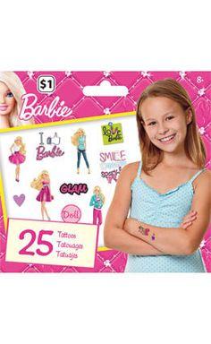 Barbie Temporary Tattoos • Mini Tattoo Bag 25ct
