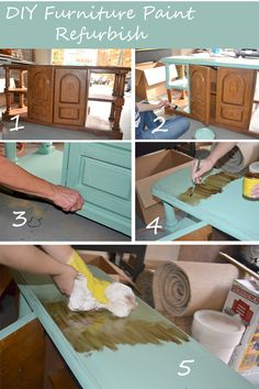 DIY furniture paint refurbish tutorial. Best tutorial I've seen for painting furniture yet! @Alycia Turpin Walsh I hope you're ready for some crafting when you're here!