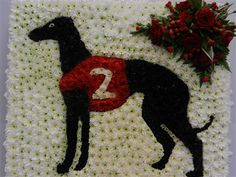 Greyhound dog Funeral tribute