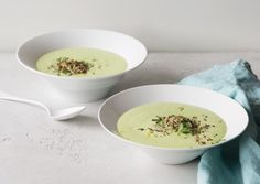 Chilled Curried Cucumber Soup with Lemon-Mint Quinoa | Vegetarian Times