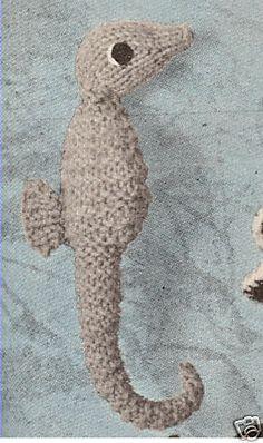 Seahorse Sea Horse Stuffed Animal Toy Knitting Pattern | eBay