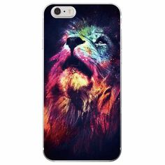 King of the jungle, wild cat lion iPhone case made from soft-silicone. Compatible iPhone models: 5 / 5s / SE, 6 / 6s, 6 / 6s Plus, 7, 7 Plus Case protects your iPhone while the silky, soft-touch silic