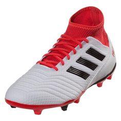 0c154fe218b adidas Predator 18.3 FG Soccer Cleats (White Red Black)