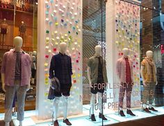 UNIQLO spring windows and in store displays 2014 by Elemental Design London