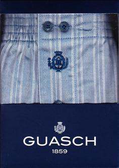 Boxer guash de Tela a Rayas - Ref: BS141  D494 - Boxer de tela algodón popelín, en tono azul con rayas haciendo como un piqué muy finito, en blanco. #calzoncillos #hombre #modahombre #ropainterior http://www.varelaintimo.com/marca/9/guash