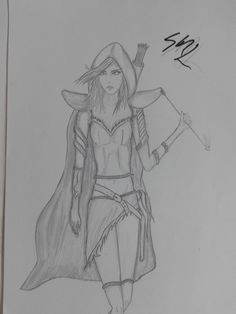 It's a hero from a game named Defense Of The Ancients ( DOTA ). Her name is Traxex.