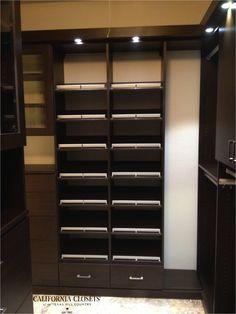 Love a deep, Chocolate colored closet.