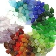 Colorized glass and the sea glass color wheel